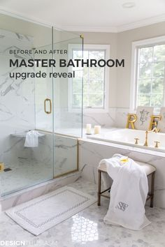 If youre looking for master bathroom makeover ideas this remodel with before and after pics will inspire you to upgrade to a new bathroom. -----> If youre looking for master bathroom makeover ideas this Mold In Bathroom, Small Bathroom, Master Bathroom, Bathroom Ideas, Bathroom Storage, Nature Bathroom, Restroom Ideas, Bathroom Updates, Bathroom Plants
