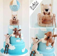 Not air balloon bear cake