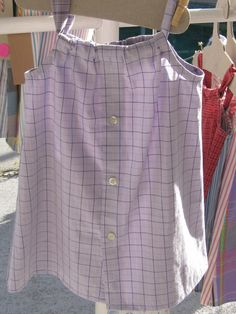 Lavender plaid with a little black and yellow dress size 1-2 Daddy's Button Shirt $22 - sold