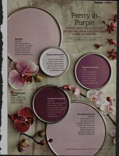 It's Pantone Color of the Year time! Each year Pantone comes out with their color forecast. The Purple, Magenta, Purple Hues, Purple Palette, Purple Walls, Purple Orchids, Purple Color Palettes, Periwinkle, Light Purple