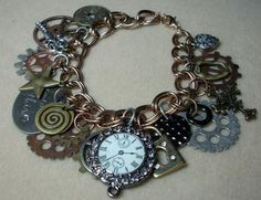 Steampunk style with watch face - love it