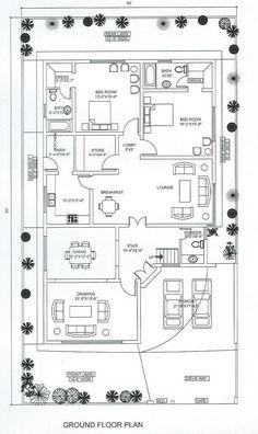 10 Marla House Plan, 2bhk House Plan, Model House Plan, House Layout Plans, Duplex House Plans, Bungalow House Plans, Craftsman House Plans, Dream House Plans, House Floor Plans