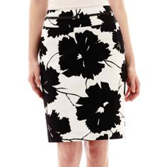 Liz Claiborne® Double Cotton Belted Skirt - JCPenney