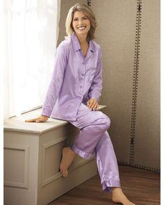 Brushed Back Satin Pajamas