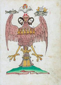 A Page from Ars Memorandi per Figuras Evangelistarum (Book of Notable Religious Figures), c. 1470. The angel that supports the whole is the emblem of St. Matthew the Evangelist.