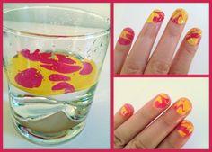 Uñas decoradas con agua | Decoración de Uñas - Manicura y Nail Art