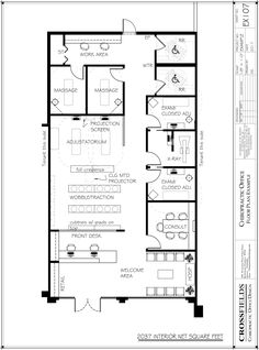 1500 sqft office floor plan rough draft pinterest for Dental office design 1500 square feet