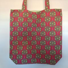 Trees with Striped Lining Shopping Bags, Fabulous Fabrics, Reusable Tote Bags, Trees, Sewing, Pattern, Collection, Fashion, Moda