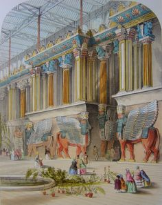 Assyrian Court, original concept art