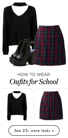 """#83"" by bielkrom on Polyvore featuring Boohoo and Lands' End"