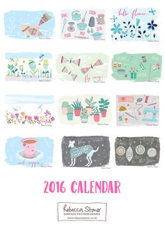 Rebecca Stoner Illustrated Calendar 2016