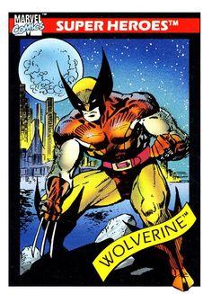 Marvel Comics Wolverine trading card