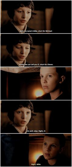 #stranger things #1x02 #mike wheeler #eleven #mike x eleven