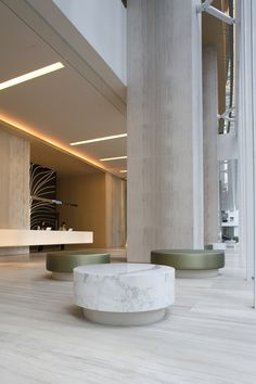 hotel aesthetic This is our daily lobby design ideas Hotel Lobby Design, Lobby Interior, Interior Architecture, Interior Ideas, Grand Hall, Hotel Reception, Office Reception, Reception Seating, Hotel Restaurant