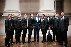 Ryan Mundy, safety for the Pittsburgh Steelers, stole the show in a midnight blue tuxedo with black satin shawl lapel at his Pittsburgh wedding