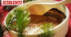 Imelletty perunalaatikko kuuluu perinteiseen joulupöytään. Salsa, Pudding, Mexican, Ethnic Recipes, Desserts, Gravy, Deserts, Custard Pudding, Salsa Music