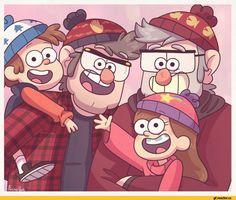 Gravity Falls,фэндомы,Dipper Pines,GF Персонажи,Mabel Pines,Stanley Pines,Stanford Pines