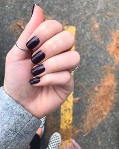 """Olivia Anderson on Instagram: """"How beautiful is this classic from essie? 'Carry On' is a deep burgundy and applies perfectly in two thin coats. This is the perfect almost…"""" Deep Burgundy, How Beautiful, Essie, My Nails, Gemstone Rings, How To Apply, Coats, Classic"""