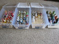 Do this one!  Make thread storage with wood base, dowels and shoe box