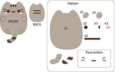 DeviantArt: More Like Pusheen The Cat Template by GrnMarco