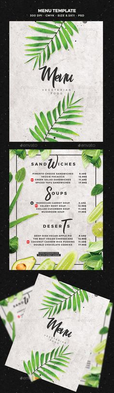 #Menu #Template - #Food Menus #Print Templates Download here: https://graphicriver.net/item/menu-template/19716417?ref=alena994