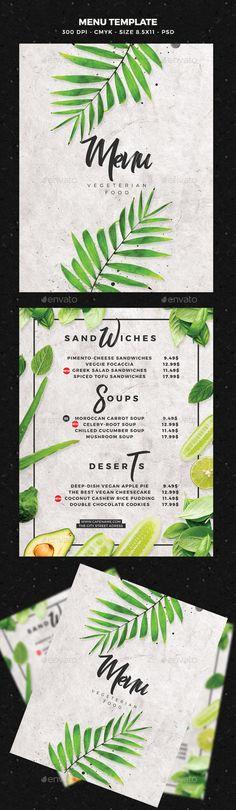 #Menu Template - #Food Menus Print Templates Download here: https://graphicriver.net/item/menu-template/19716417?ref=alena994