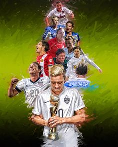 Abby Wambach (From University of Florida to Western New York Flash + National Team) Real Madrid Soccer, Barcelona Soccer, Fc Barcelona, Messi Soccer, Nike Soccer, Soccer Cleats, Ronaldo Soccer, Female Soccer Players, Soccer Inspiration