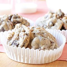 Chunky Hazelnut-Toffee Cookies | MyRecipes.com---It's hard to resist these cookies chock-full of chocolate and nuts. And remember there are no rules–you can use any candy