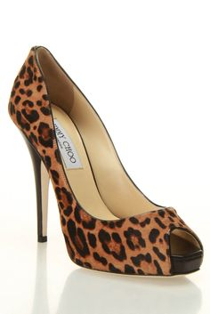 Jimmy Choo Comet Leopard Print Pony Pumps In Camel - Beyond the Rack  $599.99