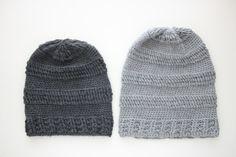 Slouchy Striped beanie pattern of Crochet Mittens, Crochet Beanie, Knitted Hats, Knit Crochet, Crochet Hats, Crochet Pattern, Knitting Projects, Crochet Projects, Knitting Patterns