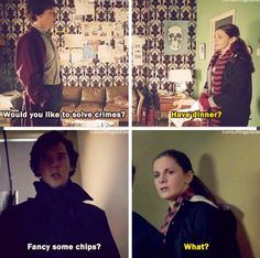 Very funny scene. Now when can we move onto Mrs. Molly Holmes, Moffat???