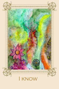 I know - Tree affirmation card by susiscauldron