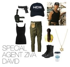 SPECIAL AGENT ZIVA DAVID by taratari on Polyvore featuring NIC+ZOE, AR, yeswalker, Jennifer Meyer Jewelry, Ziva and Holster