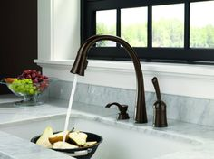 Kitchen:No Touch Kitchen Faucet – Upgrading The Faucets: Modern No Touch Modern Gooseneck Kitchen Faucets Ultra Modern Kitchen Faucet Design. Kitchen Faucet Reviews, Kitchen Sink Faucets, Kitchen Fixtures, Kitchen Handles, Bathroom Faucets, Sinks, Lotion, Bronze Kitchen, Delta Faucets