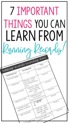 Once you understand how a running record works and what you can learn from it, you'll have a whole new appreciation for this valuable assessment tool. So don't run from Running Records! Stick around and learn more about how they can help you and your students!First, let's start with the basics #runningrecords #guidedreading