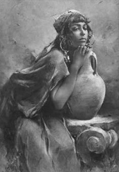 Vintage postcard of a Chaouri/Berber girl