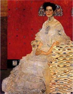 Portrait of Frieda Reidler by Gustav Klimt