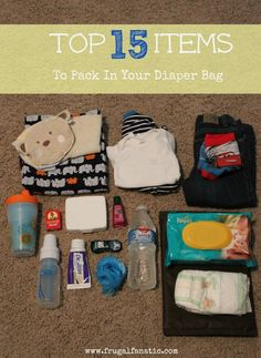 What To Pack In A Diaper Bag Top 15 Items