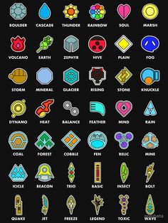 """Pokemon Badges"" T-shirt by polyhata , Pokemon Gym Badges, Pokemon Gifts, Pokemon Comics, Pokemon Fan Art, Pokemon Mix, Pokemon Birthday, Pokemon Party, Cute Pokemon Wallpaper, Naruto Wallpaper"