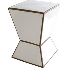 Pull this ceramic stool up to the vanity for a stylish makeup seat, or set it beside the tub to catch folded washcloths and scented soaps.  ...