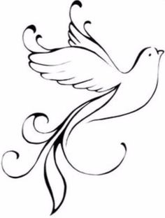 Embroidery Pattern from Dove Tattoo Designs - The Body is a Canvas. Music Tattoos, New Tattoos, Tribal Tattoos, Tatoos, Dreamcatcher Tattoos, Wing Tattoos, Baby Tattoos, Celtic Tattoos, Dove Tattoo Design