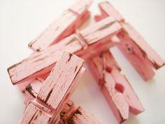 Tea Rose & Chocolate Pink/Brown Distressed Mini by PinAndTack, $5.94