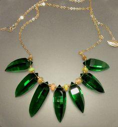 Quartz Fangs, Opal with Gold Fill Chain