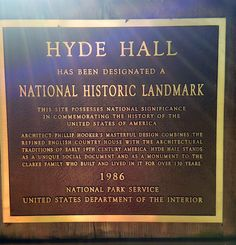 Hyde hall historical marker