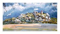 Cabeço da Neve - Caramulo Painting, Art, Water Colors, Snow, Art Background, Painting Art, Kunst, Paintings, Performing Arts