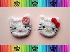free cat crochet patterns | Crochet Accessories / Crochet Cat appliqué free pattern