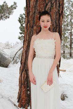 ALICE sash  Silver/Clear Beaded Bridal Wedding by SomethingIvory, $85.00