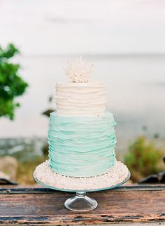 Aqua and peach seaside wedding inspiration  | Photo by Michelle March Photography | Read more - http://www.100layercake.com/blog/?p=69667