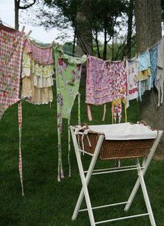 Clothes on the line. The smell takes me back to childhood helping my grandma. #BestFeelings