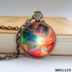 Best Gift, Night Photography Necklace, Nebulae Necklace, Nebulae Pendant, Nebulae Jewelry, Milky Way Galaxy Necklace, Nebula Jewelry by GiftShop4You, $9.50